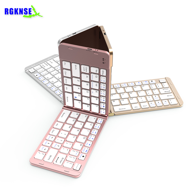 RGKNSE Universal mini wireless foldable bluetooth keyboard for laptop mobile phone electronic keyboard with touchpad