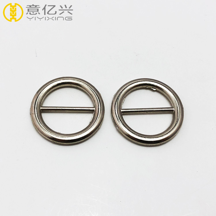 Round Metal Suspender Adjuster Buckle, Metal Bag Accessories for Handbags