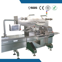 Stainless Steel Servo Motor Pillow Type Horizontal Flow Wrapping Machine For Bakery Bread