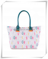 Emerald handle polyester 600D Tote bag
