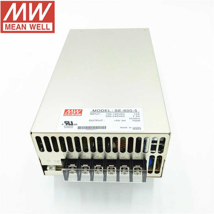 LED Equipment 600W 5V 100 Amp Power Supply Meanwell SE-600-5