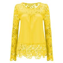 21 colors Blouses Women Long Sleeve Chiffon Lace Crochet Tops Clothing Feminine Blouse Plus Size 7XL Ladies Blusas