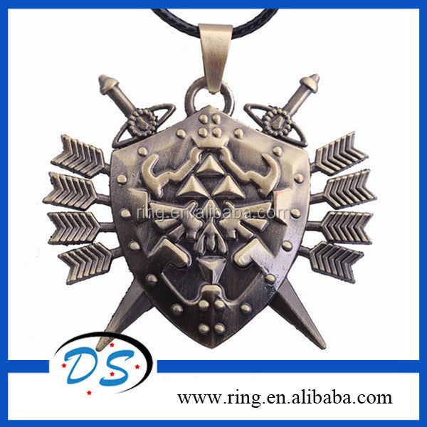 2014 New fashion Anime Game The Legend of Zelda Necklace for Men Gothic Jewelry