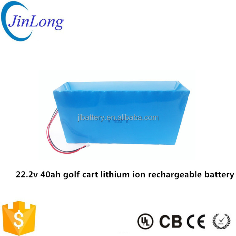 golf cart lithium ion rechargeable battery 22.2v 40ah
