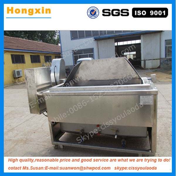 Stainless steel commercial deep potato chips fryer machine