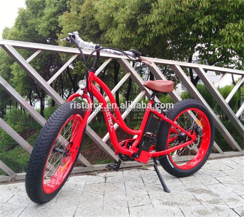 8 fun brushless hub motor 26 inch adult beach stealth bomber electric bike RSEB506