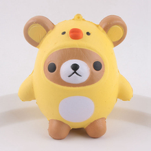 New Arrived Squeezed Toy Slow Rising Squishy Little Bear Chicken Toy Reduce Stress