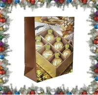 Decorations gold balls wholesale paper Christmas gift bag