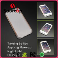 Selfie LED light PC+ TPU Phone Case for iPhone 4.7-inch and 5.5-inch mobile phone case