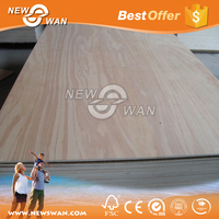 3-18mm Commercial Plywood Sheet / Natural Wood Fancy Plywood Board