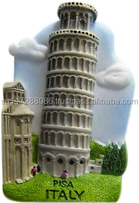 3D Pisa Fridge magnet Italy resin fridge magnet