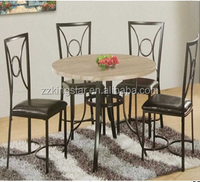 Easy design modern shape dining table set with MDF