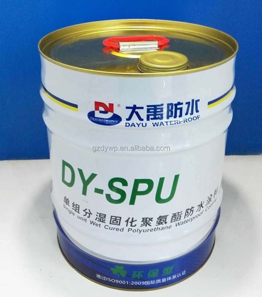 ISO Certified Single Component Polyurethane Waterproofing Paint for Roof/Pool