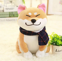 custom made soft Big Head Dog Plush Stuffed Toys