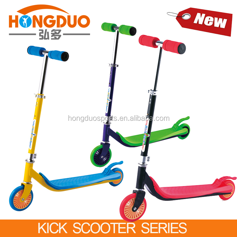 kid toys plastic kick scooter with big wheel