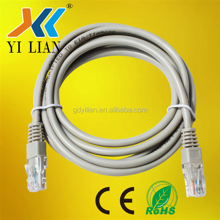 UTP Network Cable RoHS CE ISO Standard Computer Ethernet jumper Cable HDPE Insulation low voltage patch cord cable