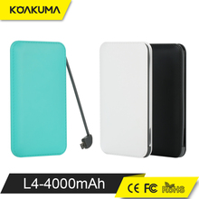 Shenzhen Supply Ultra thin power bank Super Slim Credit Card Power Bank 4000mah