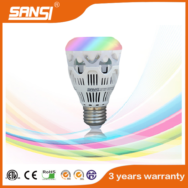 Wifi RGB energy saving color changing e27 led bulb with high lighting efficiency ul etl approved