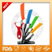 100% Food Grade Ceramic Chef Knife set with Colorful Handle