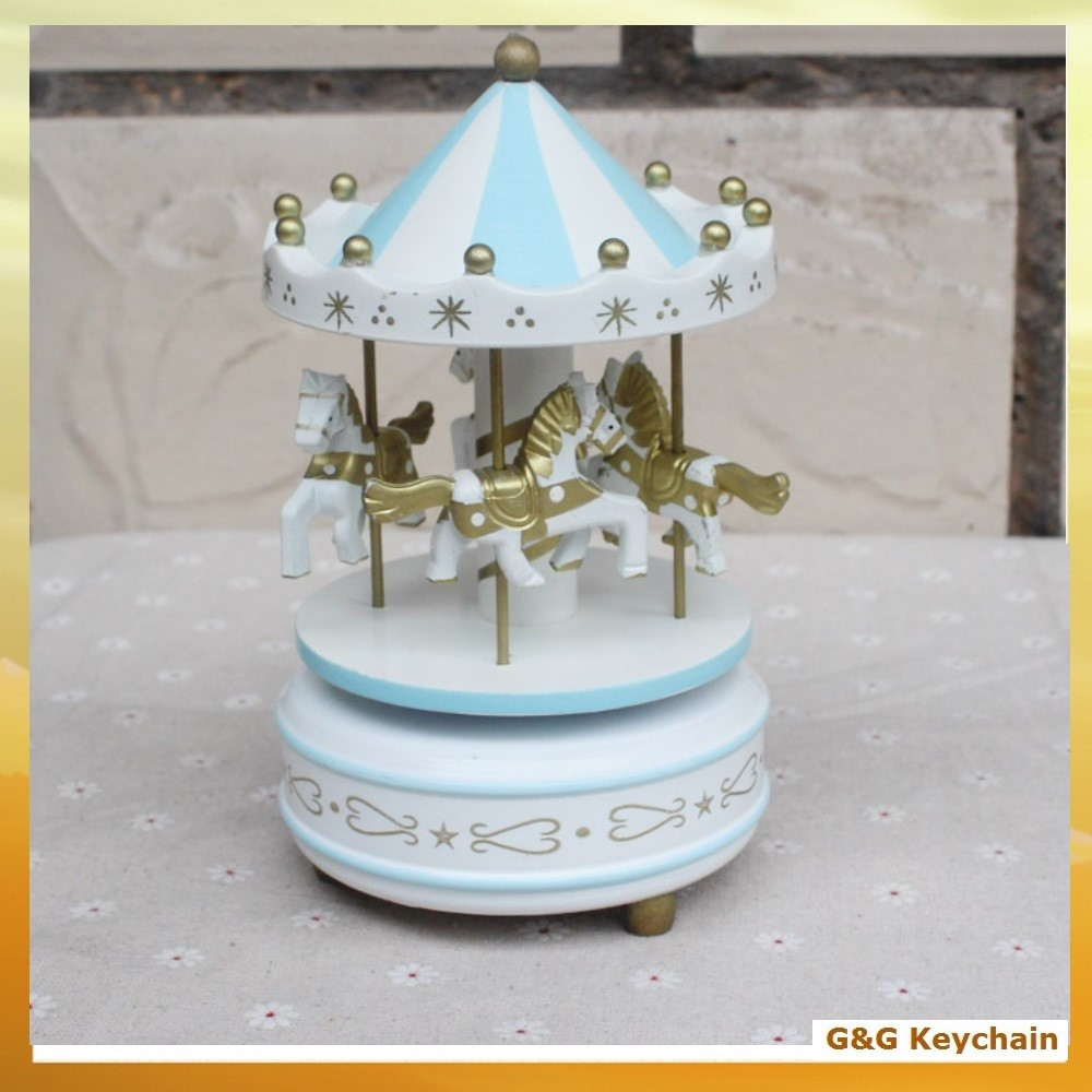 Factory outlet Hand Made Wooded Carousel Horse Music Box for Wholesale MM 002-7