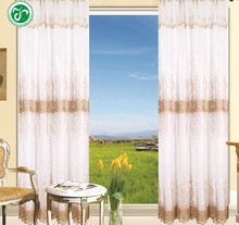 XH-309 15 years top-rated golden seller newest 100% polyester embroidered finished curtain