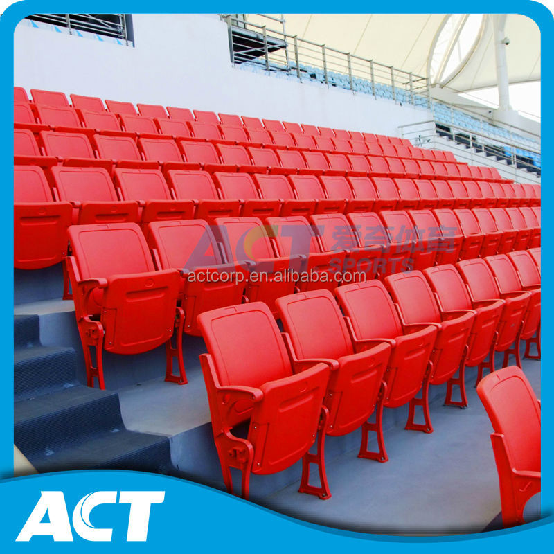 Plastic fold down indoor padded stadium seats with cushion CS-GZY-RL