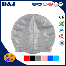 Prompt Sale Soft Comfortable Screen Printing Ink Silicone Swim Caps For Long Hair