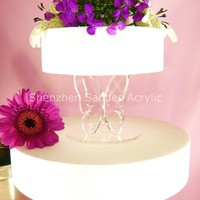 Butter Support Acrylic Display Model Cake Stand Lucite Cake Stand Acrylic Buttercream Stand