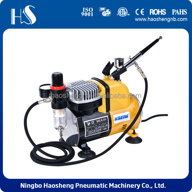 HSENG AS18CK airbrush compressor with airbrush