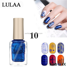 1Pcs 6ML Colorful Special Nail Polish For Nails Art Stamping Print Manicure Stamping Printing oil Nail Polish Makeup Printed