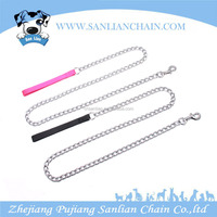 Hot sell steel pet leash and collar for dog with kinds of handles