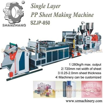 PP PS Plastic Sheet extruder thermoforming machine
