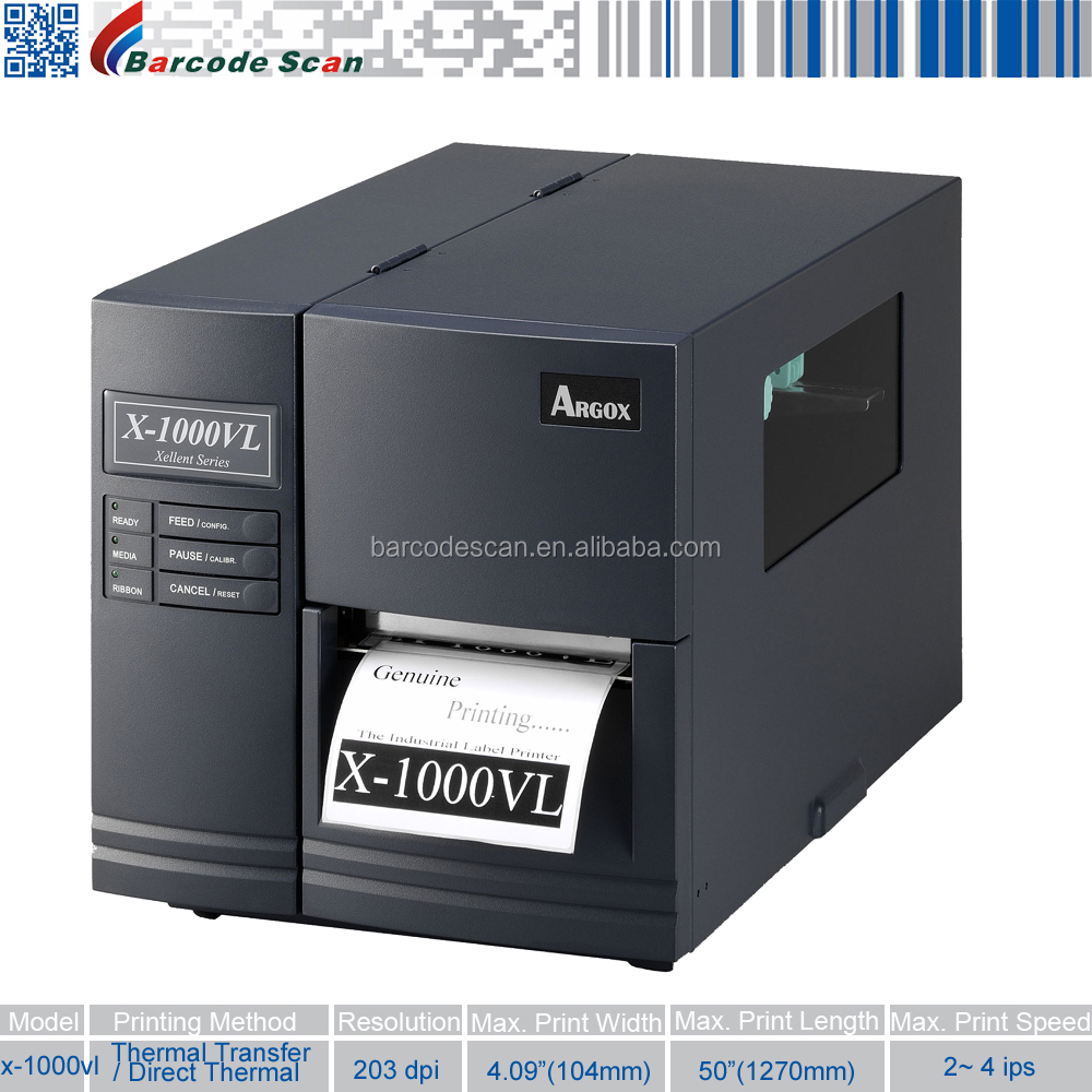 Argox X-1000VL Industrial thermal transfer barcode label printer