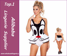 Wholesale latex sexy latex cat catsuit costume women dress