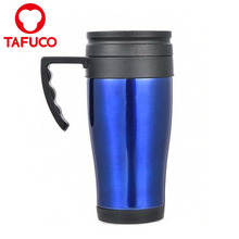 14 oz Wide Mouth Stainless Steel Coffee Tumbler Mug With Lid And Handle
