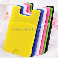2015 new products Wholesale Cell Phone Wallet Case 3M Sticky Silicone Mobile Phone Card