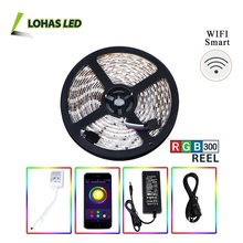 Smartphone Controlled WIFI Smart LED Light Bulb 5050 SMD RGB APP WIFI Smart LED Strip Light KIT