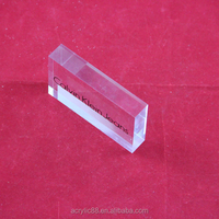 different size polished clear acrylic glass blocks lucite cube block in china