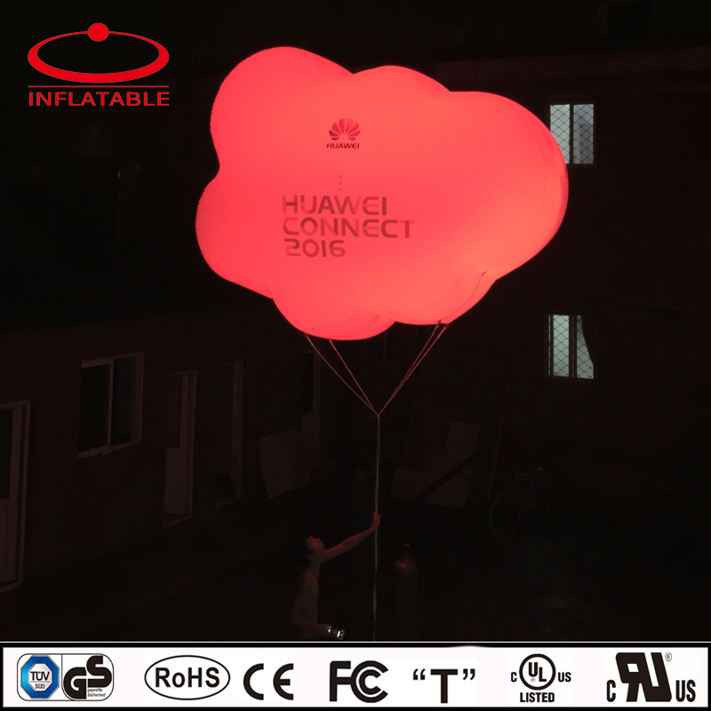 cloud shape color changing LED lights inflatable PVC helium balloon