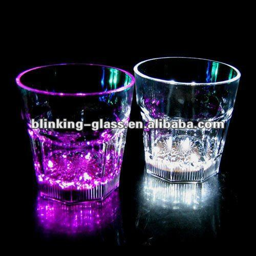 light-up liquid activated glass