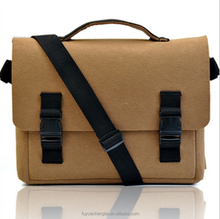 Polyester felt messenger laptop bag shoulder bag China supplier