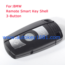 Smart 3Button Remote Key Shell Blank Chip Fit for BMW 1 3 5 6 7 Series