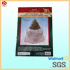 disposable white dustproof christmas plastic big tree bag with header card