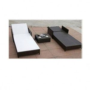 On-time delivery factory directly round rattan sunlounger