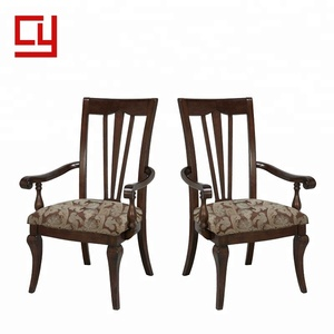 Factory discount restaurant dining wooden chair with fabric seat