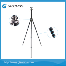GIZOMOS high professional camera carbon fiber tripod foto for camcorders payload 15kg