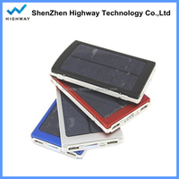 Real Capacity Portable 10000mah Solar Mobile Phone Charger Mini Solar Panel
