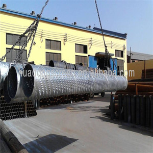OD168 Sand control bridge slot screen water well drilling pipe