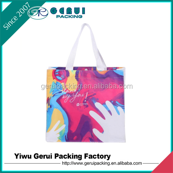 cheap recycled custom printing grocery use pp non woven bag