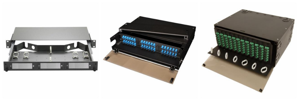 Wall mount indoor two doors open optical fiber patch panel